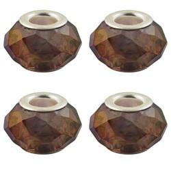 Perle à facettes Chocolat style Pandora - à l'unité