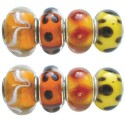 Assortiment Perles orange style Pandora - 8 pièces