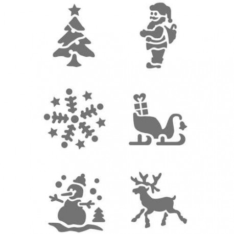 Pochoir plastique Noel