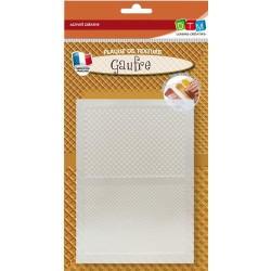 Plaque de texture Gaufre 20 x 13 cm