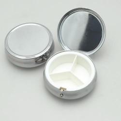 Boîte ronde métallique à décorer - Petit modèle