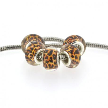 Perle en acrylique Léopard style Pandora - à l'unité