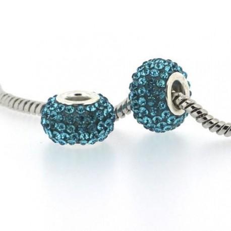 Métal Shamballah turquoise style Pandora - à l'unité