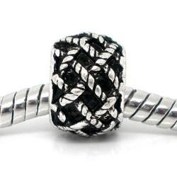 Métal perle tissée style Pandora - à l'unité