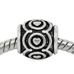 Métal perle Guirlande de coeurs style Pandora - à l'unité