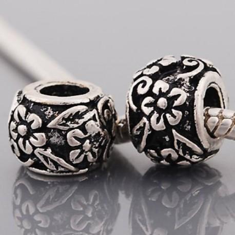 Métal Arabesques fleurs style Pandora - à l'unité