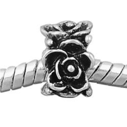 Métal Anneau fleurs style Pandora - à l'unité
