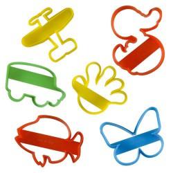 6 emporte-pièces plastiques pour enfants