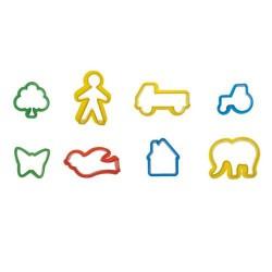 8 emporte-pièces plastiques pour enfants