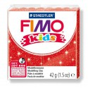 Fimo Kids Rouge pailleté 212 - 42 gr