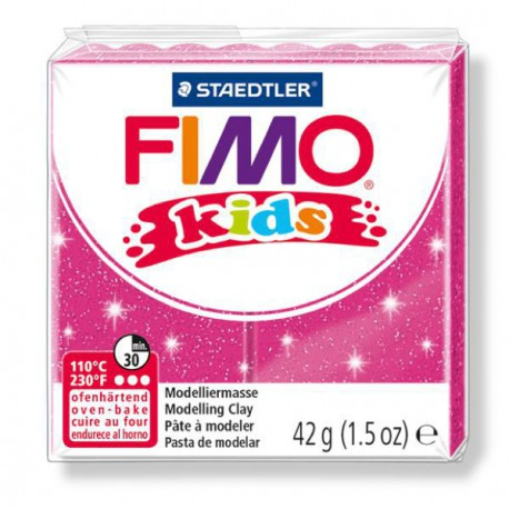 Fimo Kids Rose pailleté 262 - 42 gr