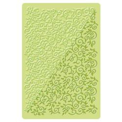 Plaque de texture Volutes florales 20 x 13 cm