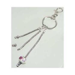 Porte-clés nu style Pandora 16 cm avec fermoir