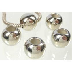 Métal perle ronde 12mm style Pandora - à l'unité