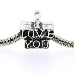 Métal I Love You style Pandora - à l'unité