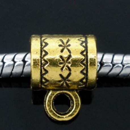 Métal perle aux étoiles style Pandora, dorée - à l'unité