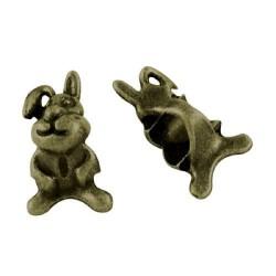 Métal Lapin style Pandora, bronze antique - à l'unité