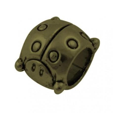 Métal Cocinelle style Pandora, bronze antique - à l'unité