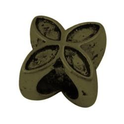 Métal Fleur style Pandora, bronze antique - à l'unité