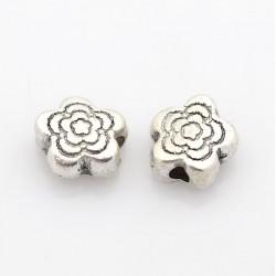 Perle de métal petite fleur