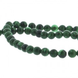Perle de verre imitation malachite, 4 mm