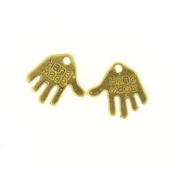 Breloque en métal Hande Made, doré