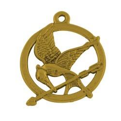 Pendentif breloque en métal Geai moqueur Hunger Games, doré