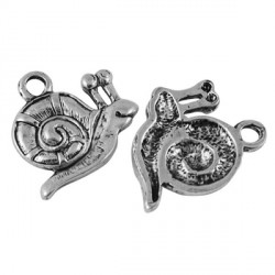 Pendentif breloque en métal Escargot