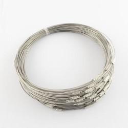 Collier métal couleur gris foncé, 45 cm