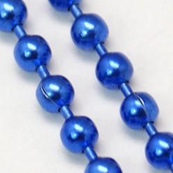 Chaîne billes, Ø1,5 mm bleu foncé