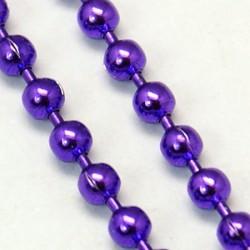 Chaîne billes, Ø1,5 mm Violette