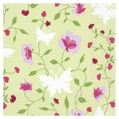 Serviettes en papier Jolies fleurs