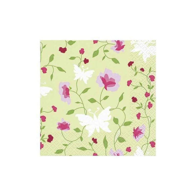serviettes en papier jolies fleurs. Black Bedroom Furniture Sets. Home Design Ideas
