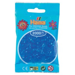 Sachet 2000 Perles Hama Mini - Bleu transparent