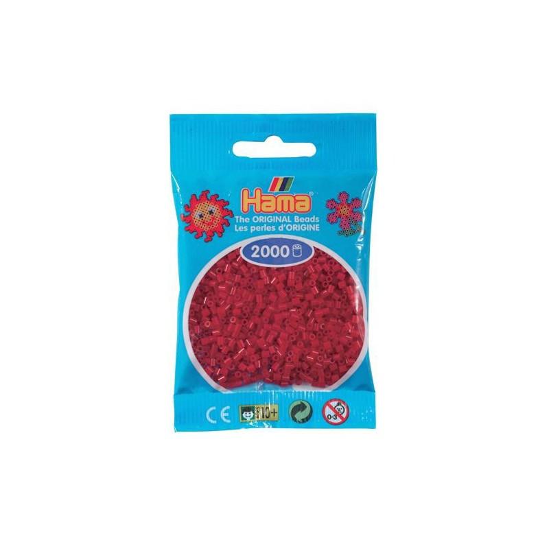 sachet 2000 perles hama mini rouge no l. Black Bedroom Furniture Sets. Home Design Ideas