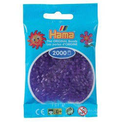 Sachet 2000 Perles Hama Mini - Violet transparent