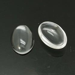 Cabochon ovale 18 x 13 mm en verre