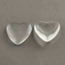 Cabochon coeur 20 mm en verre