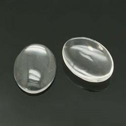 Cabochon ovale 24 x 18 mm en verre