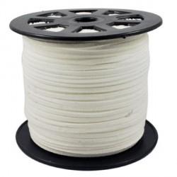 Cordon suédine Blanc 3 mm ø