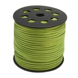Cordon suédine Vert clair brillant 3 mm ø détail