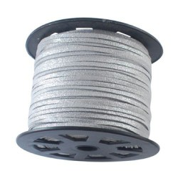 Cordon suédine Gris brillant 3 mm ø