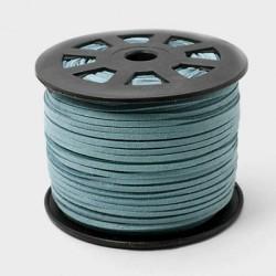 Cordon suédine Bleu Turquoise foncé 3 mm ø