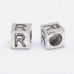 Métal Lettre R style Pandora - à l'unité