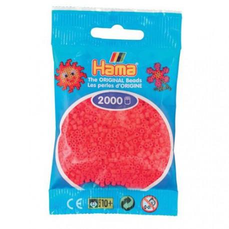 Sachet 2000 Perles Hama Mini - Rouge cerise