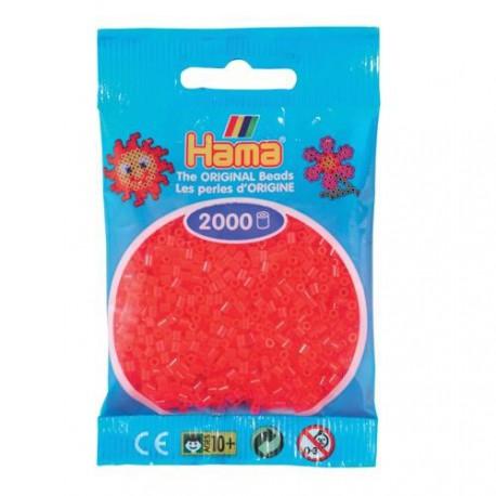 Sachet 2000 Perles Hama Mini - Rouge néon