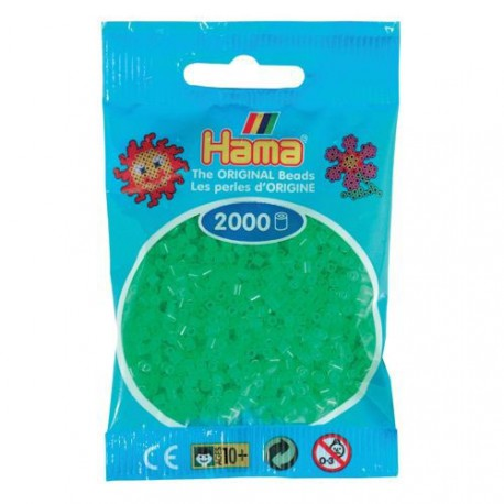 Sachet 2000 Perles Hama Mini - Vert néon