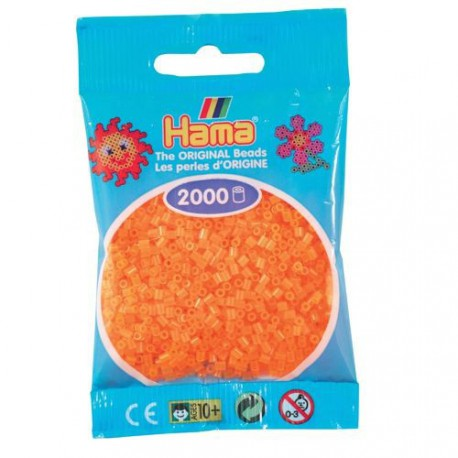 Sachet 2000 Perles Hama Mini - Orange néon