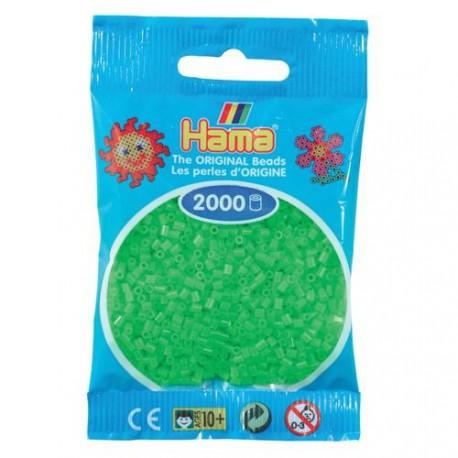 Sachet 2000 Perles Hama Mini - Vert fluorescent