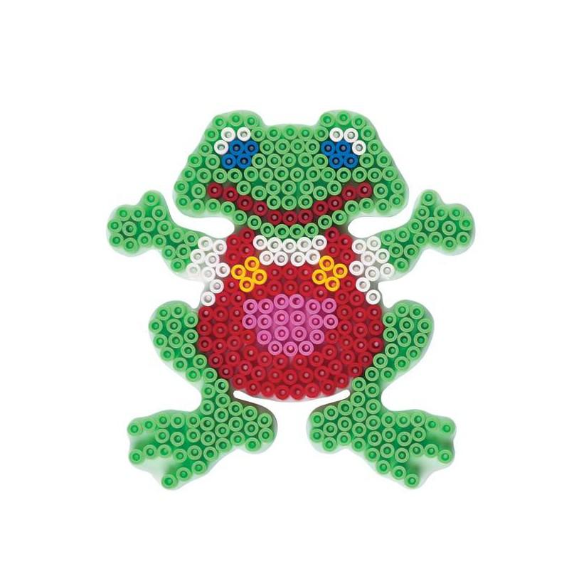Plaque perles repasser hama midi grenouille grand mod le for Modele maison perle a repasser